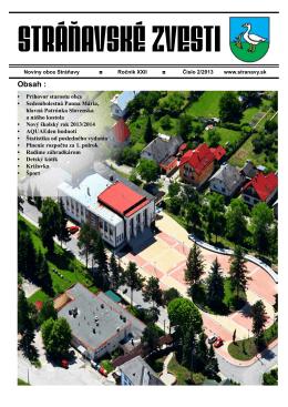 zVESTI 2/2013 - Obec Stráňavy