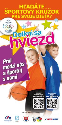 Informačný leták - Slovenský olympijský výbor