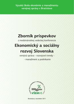 Zborník príspevkov Ekonomický a sociálny rozvoj