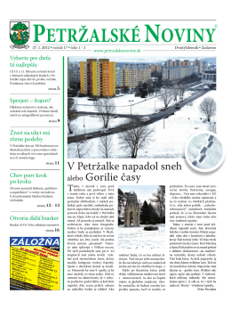 Nekonečný príbeh - Petržalské Noviny