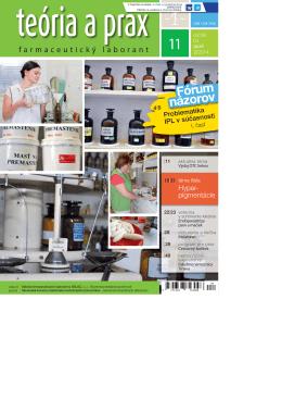Teória a prax farmaceutický laborant 11/2014