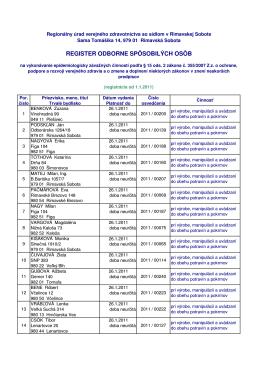 Zoznam osob_2011 - RUVZ so sídlom v Rimavskej Sobote