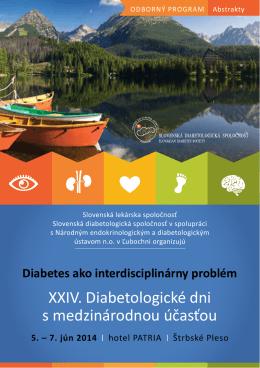 XXIV. Diabetologické dni s medzinárodnou účasťou