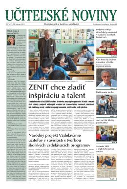 ZENIT chce zladiť inšpiráciu a talent - Domov