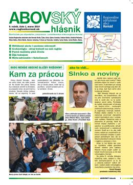 1/2014 - Regionálne združenie obcí Hornád