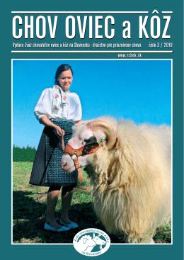 Vydáva Zväz chovateľov oviec a kôz na Slovensku