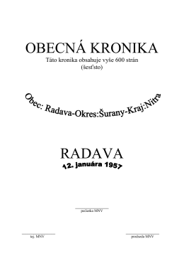 Kronika od roku 1957 po 2012. (formát PDF - 909 KB)