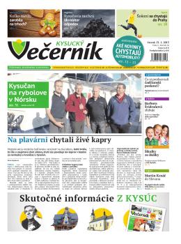 Kysucký večerník číslo 3 2015