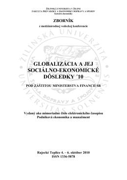 zborník 2010 - Žilinská univerzita