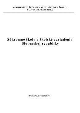 Súkromné školy a školské zariadenia Slovenskej republiky