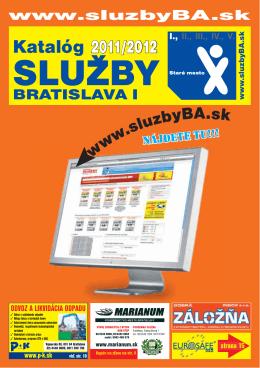 Katalóg 2011/2012 - Služby Bratislava