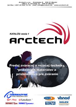 Nový katalóg Arctech