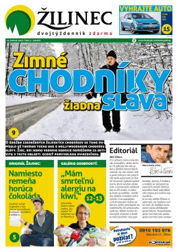žiadna - Noviny Žilinec