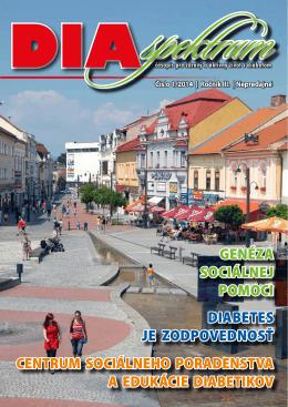 Časopis Diaspektrum 1/2014 - Zväz diabetikov Slovenska
