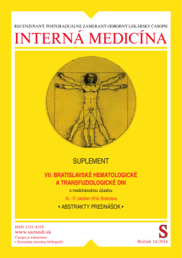 abstrakta - Slovenský hematologický portál