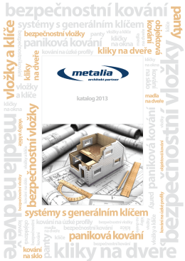 Katalog - Metalia architekt partner