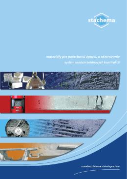materiály pre povrchovú úpravu a ošetrovanie