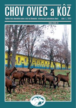 Číslo 01/2012 - Zväz chovateľov oviec a kôz na Slovensku