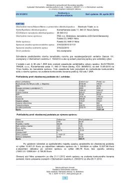 Deň vydania: 26. apríla 2013 Konkurzy a reštrukturalizácie OV 81