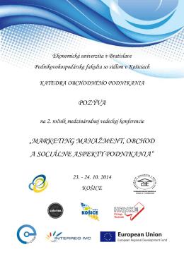 stiahnuť - Podnikovohospodárska fakulta so sídlom v Košiciach