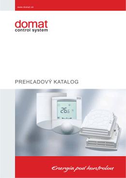 PREHĽADOVÝ KATALOG - Domat Control System