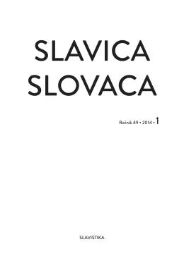 No. 1 - Slavistický ústav Jána Stanislava SAV