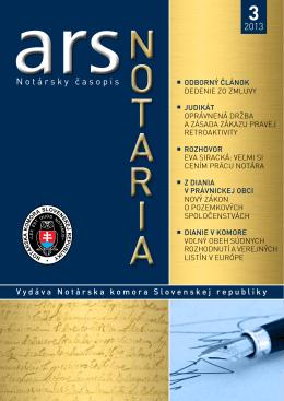 ars notaria 13-03 - Notárska komora Slovenskej republiky
