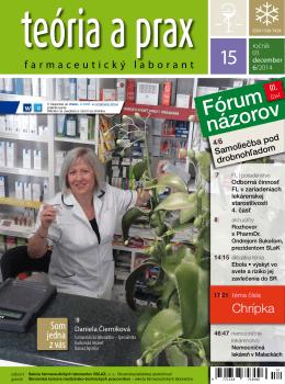 Časopis Teória a prax Farmaceutický laborant číslo 15/2014