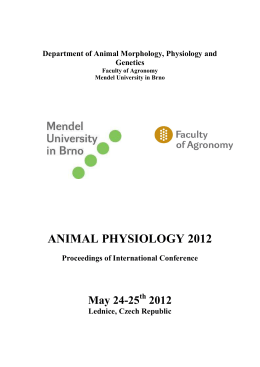 Animal Physiology 2012_Proceedings