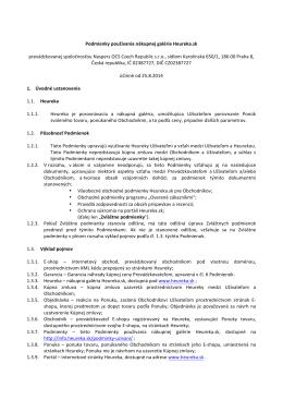 Podmienky používania nákupnej galérie Heureka.sk