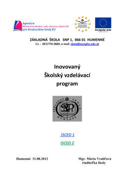 Inovovaný Školský vzdelávací program