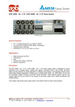 DPS 1600B – 48 – 4 19