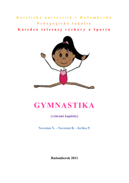 Novotná B. - Krška P.: Gymnastika (vybrané kapitoly)