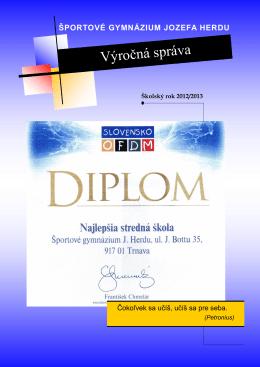 vyrocna_sprava_2012-13 - Športové gymnázium Jozefa Herdu Trnava