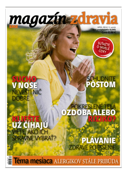Apríl 2014 - Magazín Zdravia