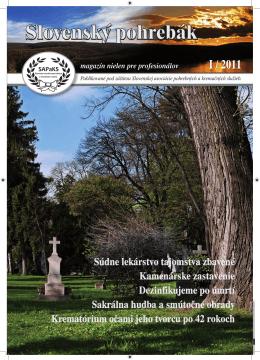 I / 2011 - Slovenské pohrebníctvo
