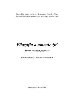 Stiahnuť zborník - Slovenské filozofické združenie pri SAV