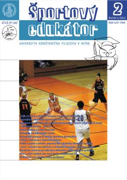 Športový_edukátor_2_2012 - Katedra telesnej výchovy a športu PF