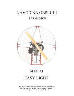 NÁVOD NA OBSLUHU EASY LIGHT