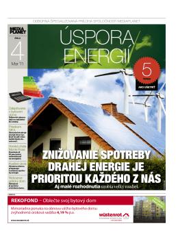 Znižovanie spotreby drahej energie je prioritou