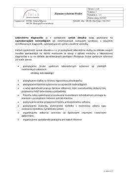 Laboratórna diagnostika je v spoločnosti synlab slovakia s