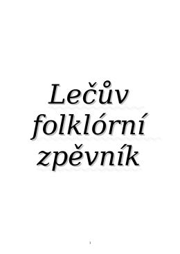 Zpěvník folklorních písní