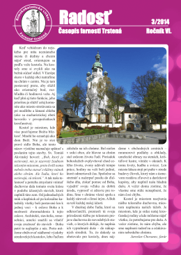Farský časopis Radosť 3/2014