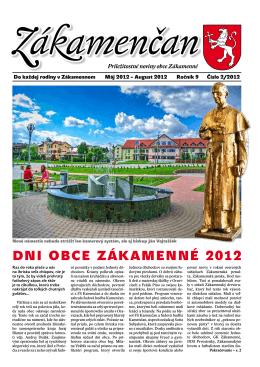 Dni obce ZákaMenné 2012