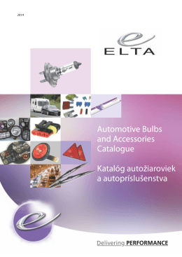 Automotive Bulbs and Accessories Catalogue Katalóg autožiaroviek