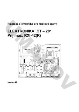 ELEKTRONIKA: CT – 201 Prijímač: RXI-42(R)