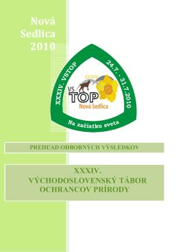 2010 Nová Sedlica - zborník