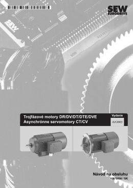 Trojfázové motory DR/DV/DT/DTE/DVE - SEW