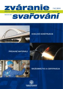 oceľové konštrukcie prídavné materiály skúšobníctvo a certifikácia