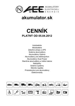 CENNÍK - AEE sro
